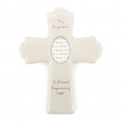 Baptism Photo Frame Cross