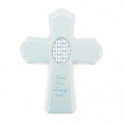 Blue Photo Frame Cross