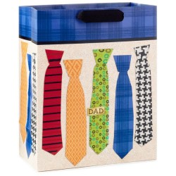 Colorful Ties Father's Day Large Gift Bag