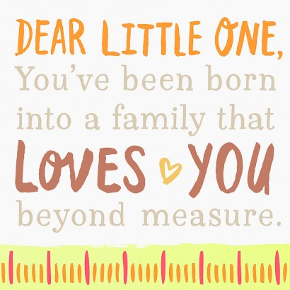 Dear Little One Sentiment Block