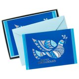 Decorated Dove Hanukkah Cards, Box of 16