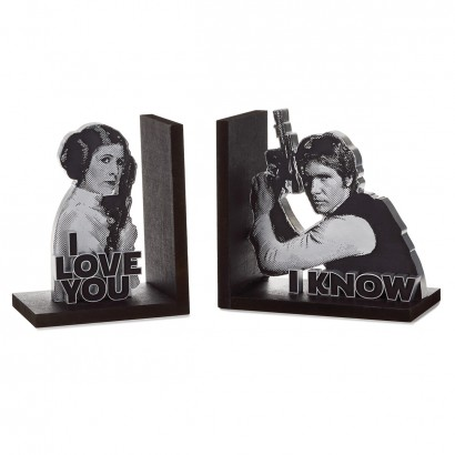 Han Solo™ and Princess Leia™ Bookend Set of Two