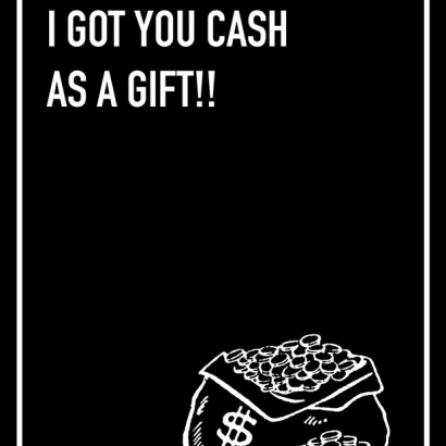 Cash as a Gift Shoebox Card