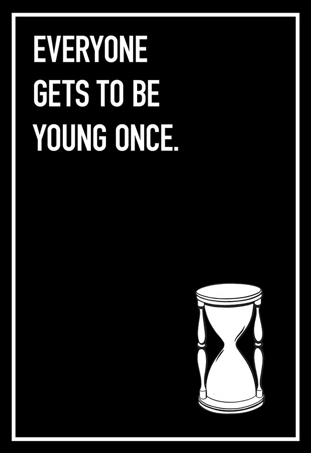 Young Once Shoebox Card
