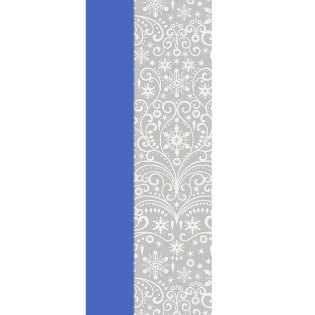 Silver Snowflakes and Solid Blue 2-Pack Tissue Paper, 6 Sheets