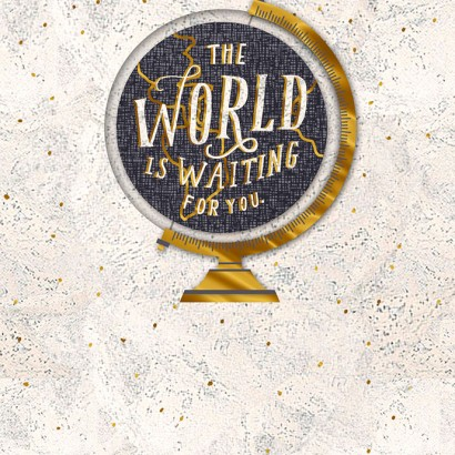 Hallmark Signature - World is Waiting Graduation Card