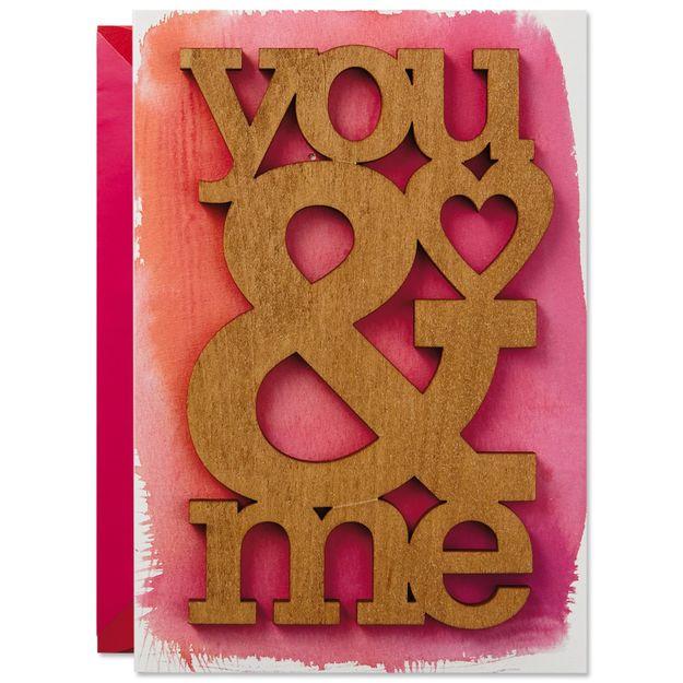 You & Me Wood Cutout Signature Card