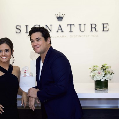 Dean Cain and Danica McKellar at the Hallmark Signature Store Grand Opening