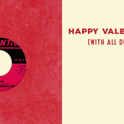 Respect Valentine's Day Card with Vinyl Record