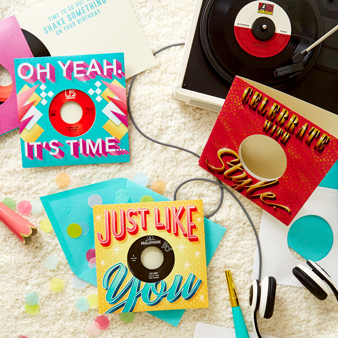 Hallmark Launches New Vinyl Record Birthday Cards Featuring