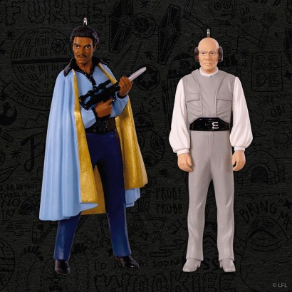 Star Wars The Empire Strike Back Lando Calrissian and Lobot Keepsake Ornament two-pack