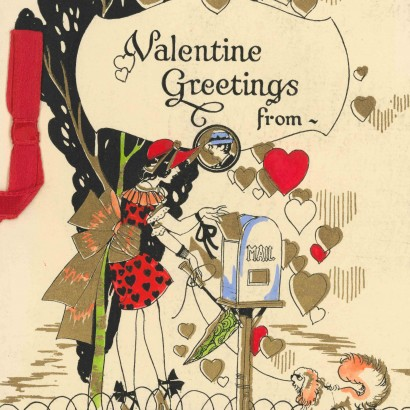 1920 Valentine's Day Card