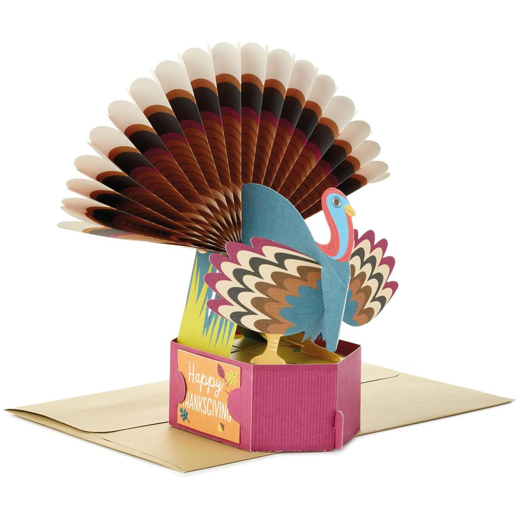 Classic Turkey Thanksgiving Pop-Up Card