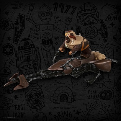 Star Wars 2019 Convention Exclusive Ewok on Land Speeder Ornament