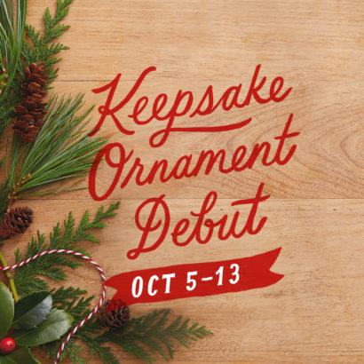 Keepsake Ornament Debut