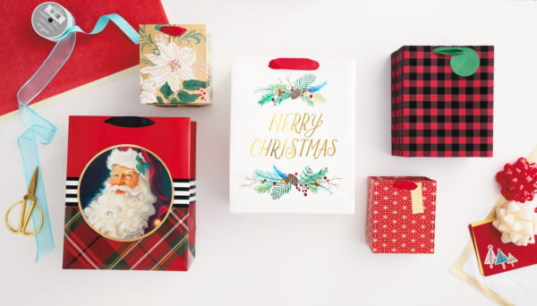 Image of Hallmark gift wrap on table